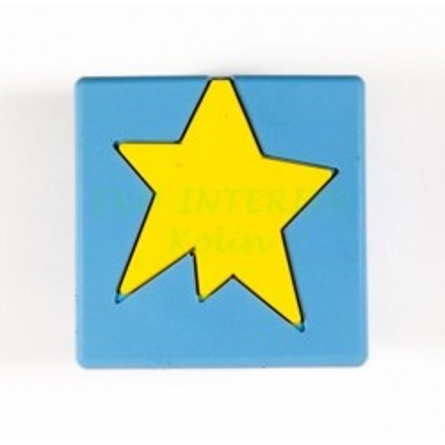 Dětská úchytka gumová kostka s hvězdou