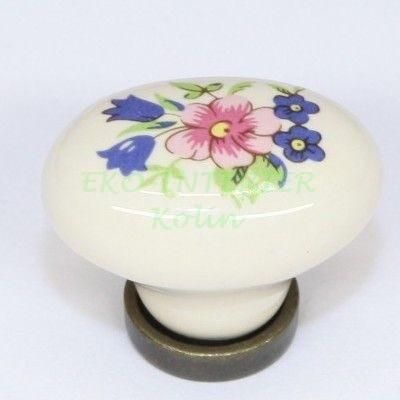 Nábytková úchytka porcelánová 1801-1