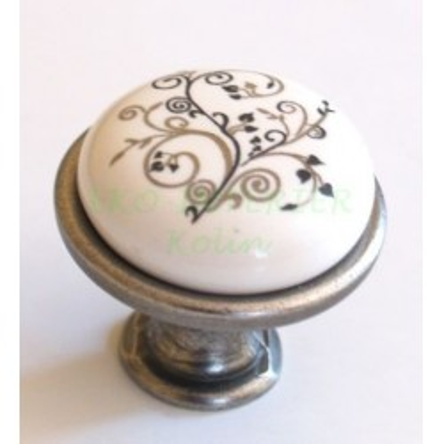 Nábytková úchytka porcelánová 1901-12