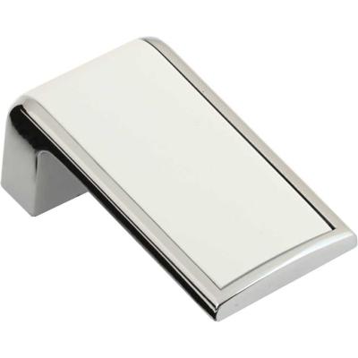 Nábytková knopka 2201 bílá - chrom