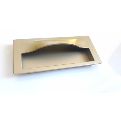 Nábytková úchytka zápustná 3596 zlatá satina