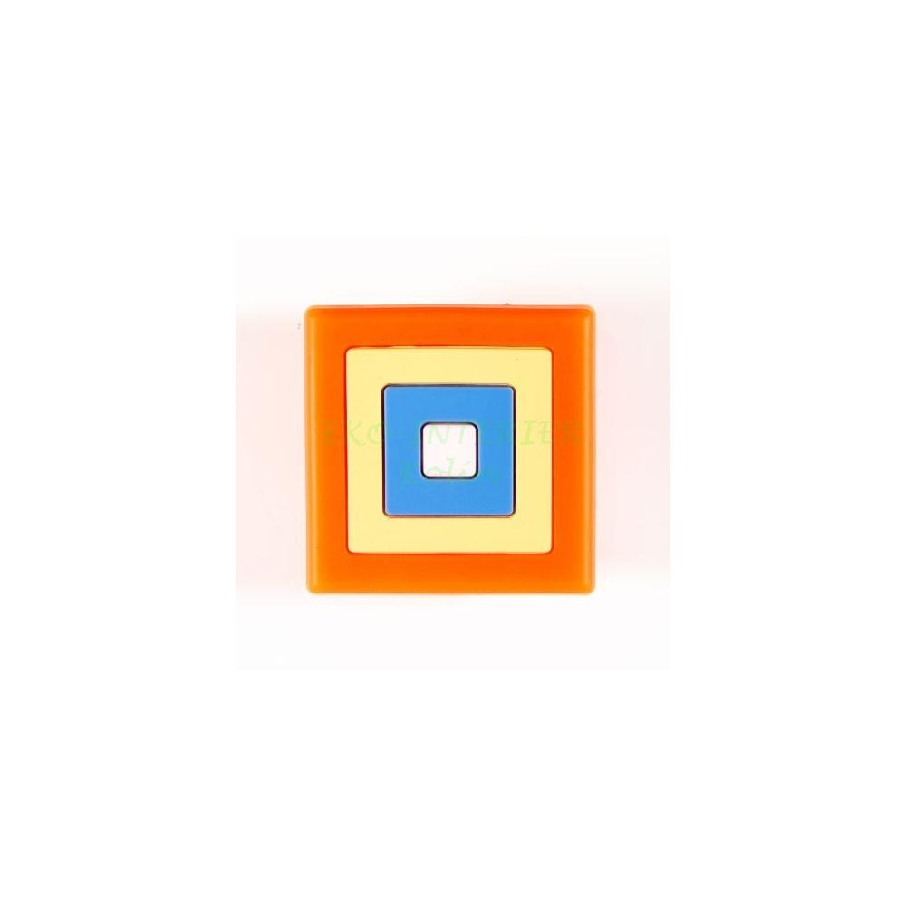 Dětská úchytka gumová kostka oranžová