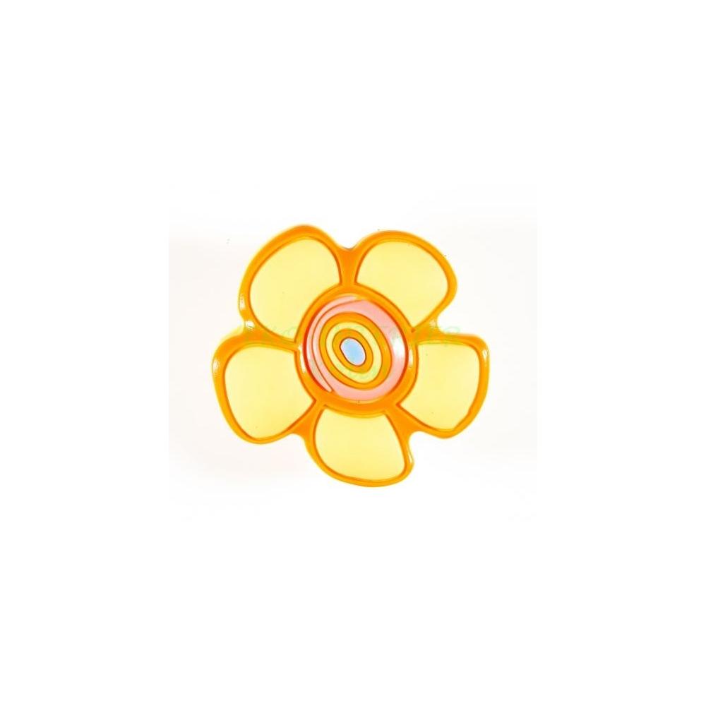 Dětská úchytka gumová květ