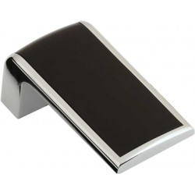 Nábytková knopka 2201 černá mat - chrom