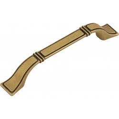 Nábytková úchytka kovová 388128 starozlatá