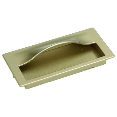 Nábytková úchytka zápustná 35128 zlatá satina