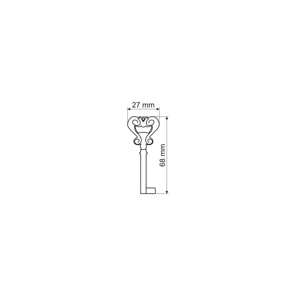 Rustikální klíč 01 nábytkový