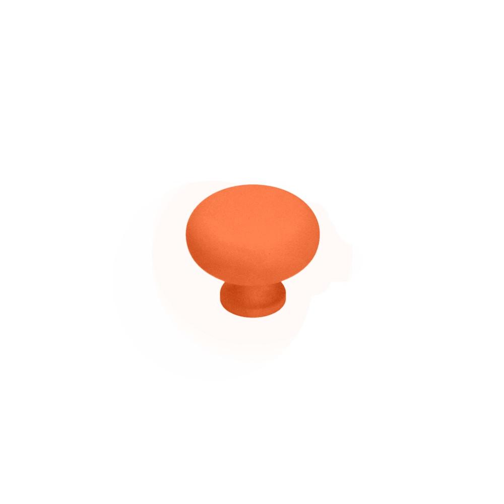Nábytková úchytka kovová Soft touch 16601 oranžová - cihlová