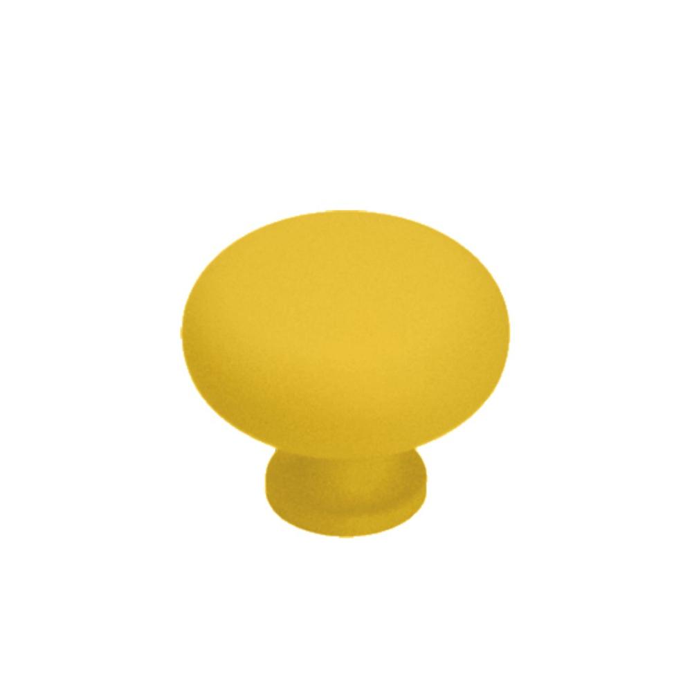 Nábytková úchytka kovová Soft Touch 16601 žlutá