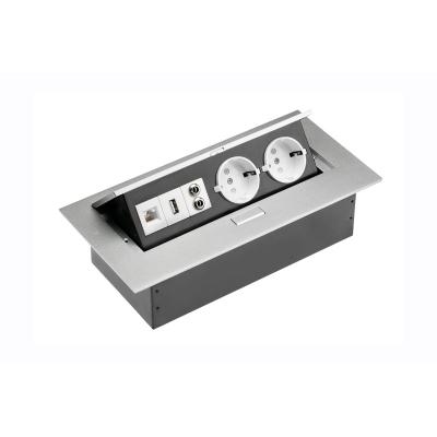 Výklopná zásuvka - hliníková USB