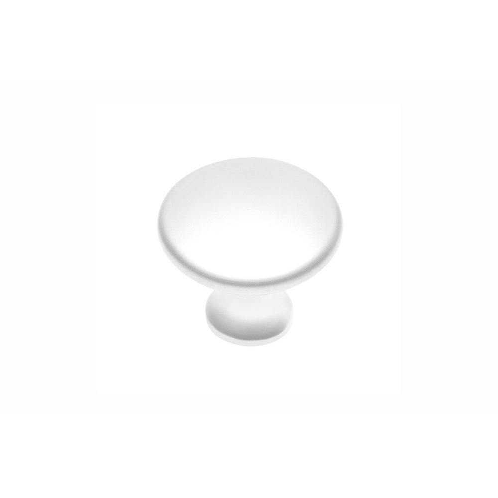 Kovová knopka G1101 bílá mat