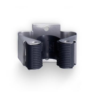 Držák na smetáky kovový 2ks stříbrná 2055