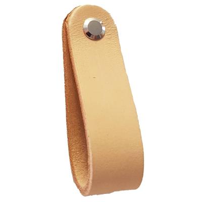 Kožená knopka GL22 béžová/nerez
