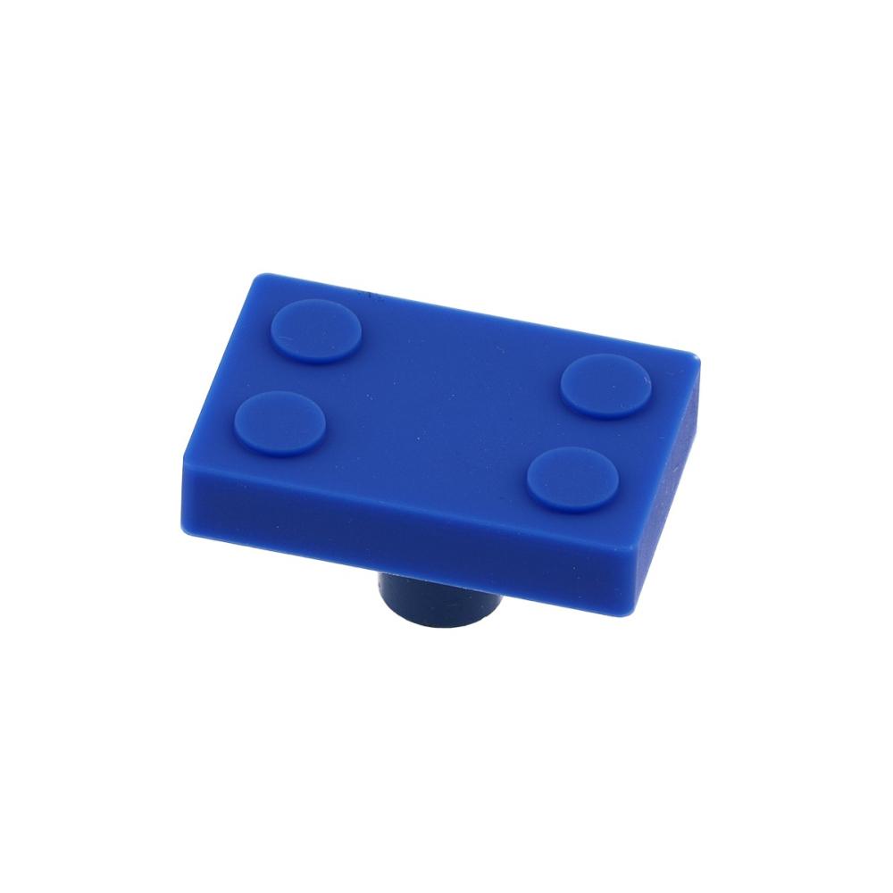 Dětská úchytka gumová blok - modrá