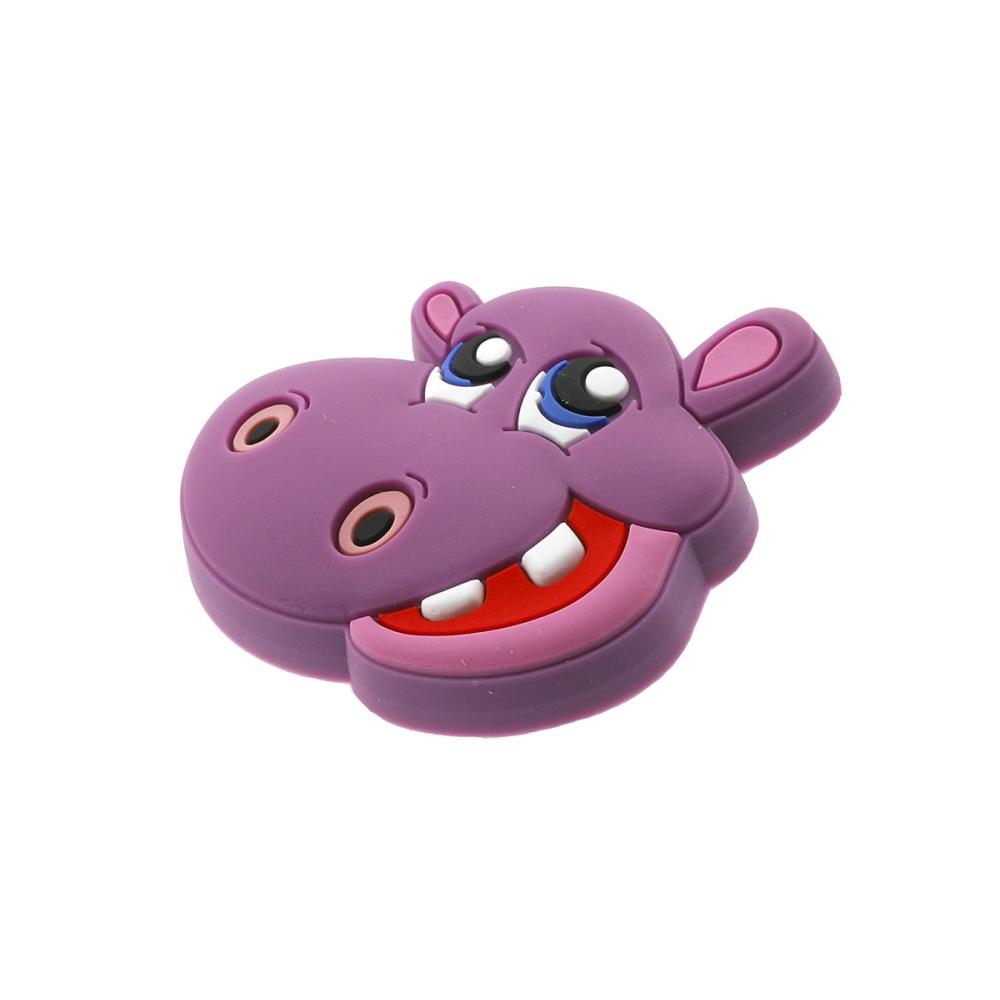 Dětská úchytka gumová hroch