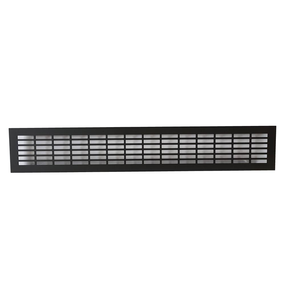Mřížka hliníková KK-W80 hranatý výsek - černá