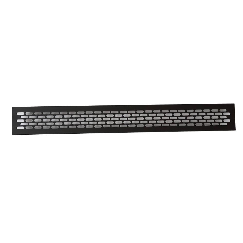 Mřížka hliníková KK-W60 oválný výsek - černá