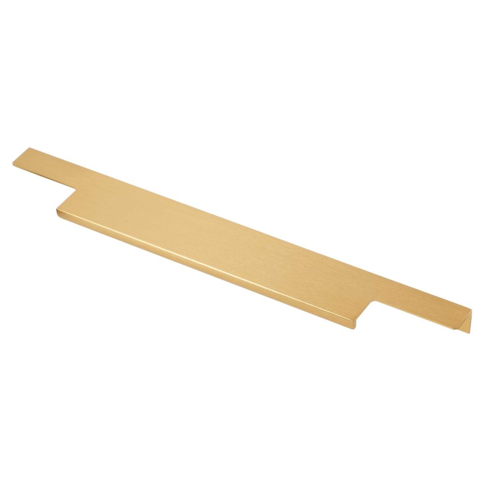Hliníková úchytka do hrany 150596 zlatá kartáčovaná