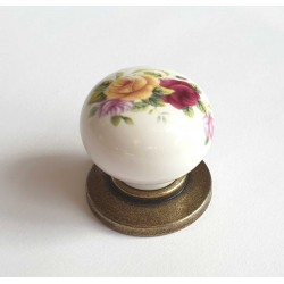 Porcelánová knopka 3005-starozlatá-320